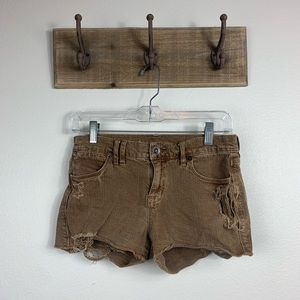 Madewell Brown Distressed Jeans Shorts Sz 25